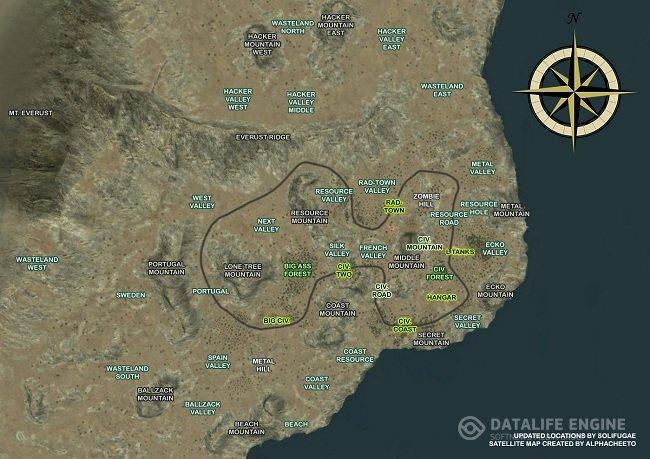 Карта RUST island 2013