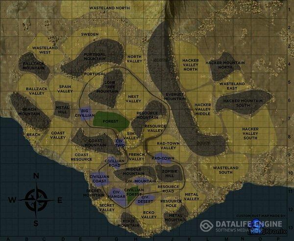 Карта RUST Alpha